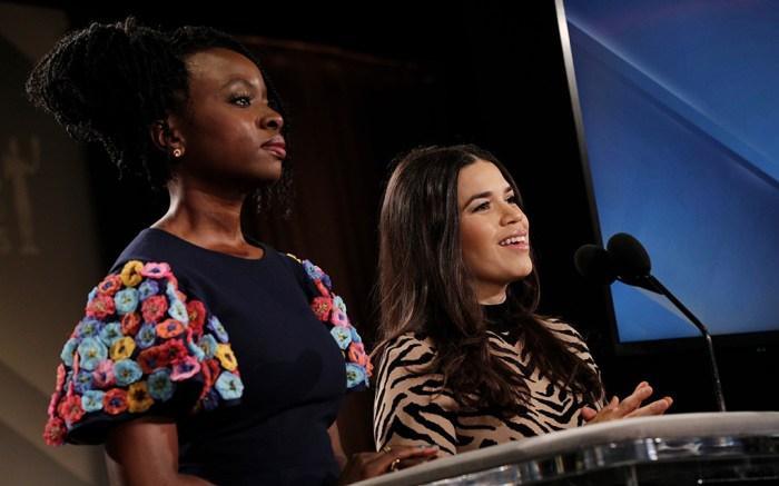 Danai Gurira and America Ferrera26th Annual Screen Actors Guild Awards Nomination Announcement, Pacific Design Center, Los Angeles, USA - 11 Dec 2019