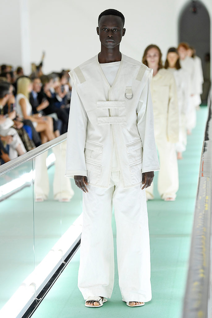 Alhassan Sandah walking in the Gucci spring '20 show.