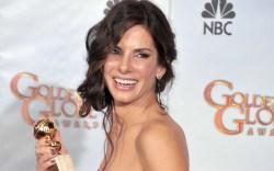 Sandra Bullock, golden globes, red carpet,