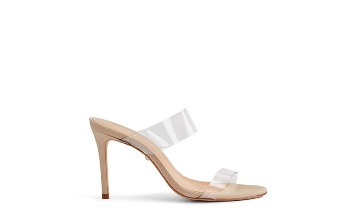 schutz clear mule sandals