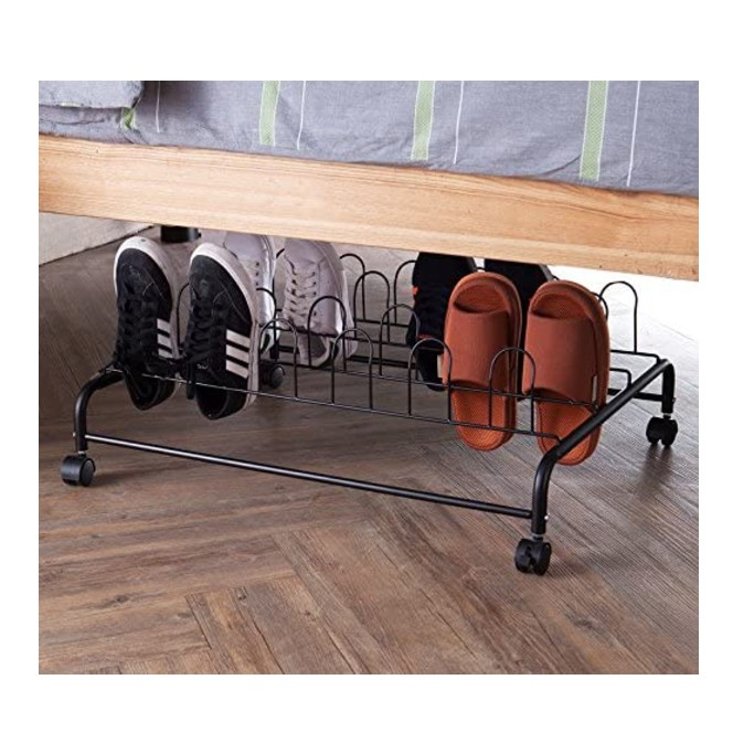 DormCo Suprima Underbed Shoe Holder with Wheels
