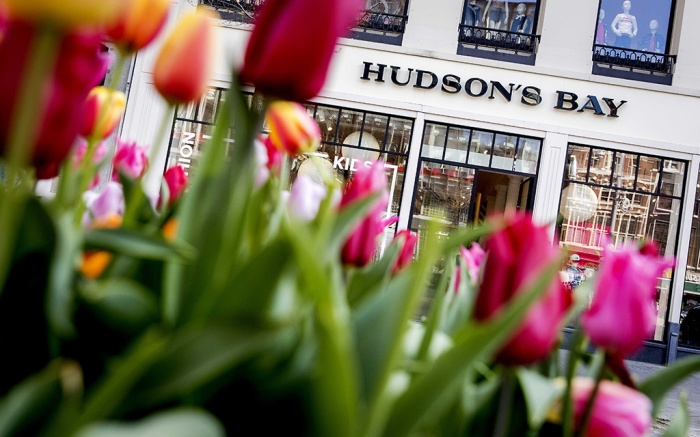 Exterior view of Hudson's Bay in Amsterdam, Netherlands, 12 April 2019. According to reports, the department store chain in The Netherlands is in danger of closure or bankruptcy before the end of the year.Hudson's bay may close to bankruptcy, Amsterdam, Netherlands - 12 Apr 2019