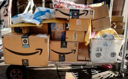 Amazon Prime boxes are loaded on