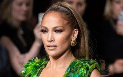 Jennifer Lopez on the catwalkVersace show,