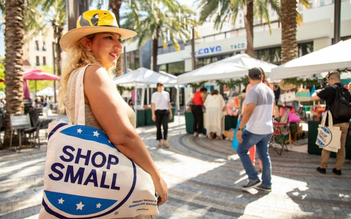 Maria Garcia celebrates Small Business Saturday, a day founded by American Express, on in Miami10th Annual Small Business Saturday, Miami, USA - 30 Nov 2019