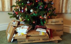 Gifts from Amazon under the Christmas