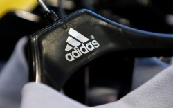 A hanger featuring the Adidas logo
