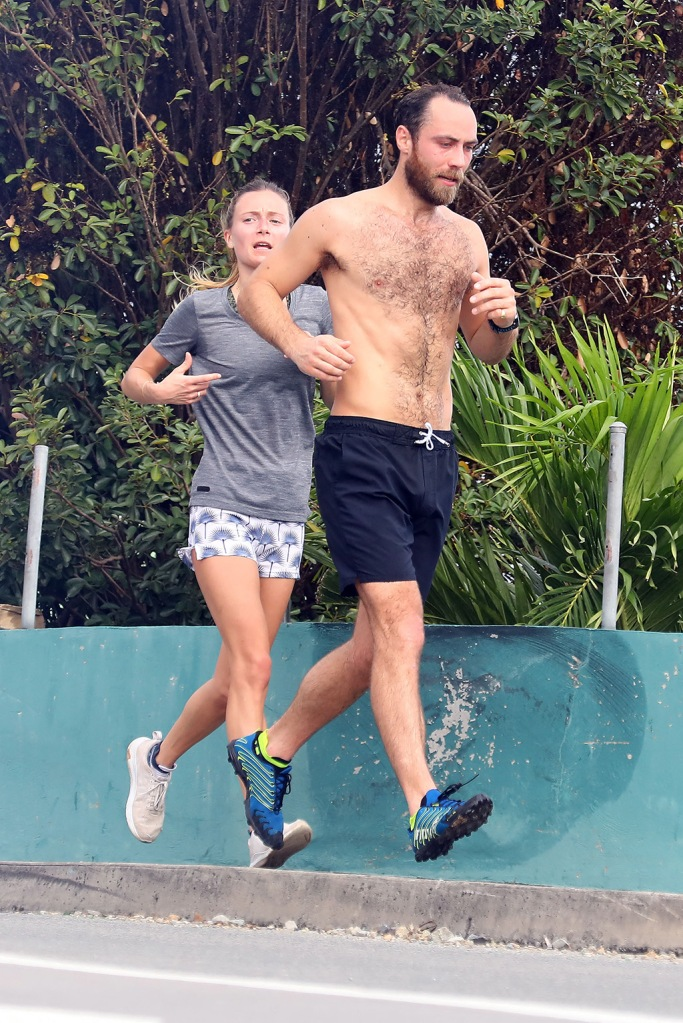 james middleton, shirtless, running, st barths, vacation, alizee thevenet, sneakers, British Socialite James Matthews Junior and fiancee Alizee Thevenet pictured while out jogging around in the early morning in St Barts.Pictured: Alizee Thevenet,James Matthews Jr.Ref: SPL5137679 311219 NON-EXCLUSIVEPicture by: AbacaPress / SplashNews.comSplash News and PicturesLos Angeles: 310-821-2666New York: 212-619-2666London: +44 (0)20 7644 7656Berlin: +49 175 3764 166photodesk@splashnews.comUnited Arab Emirates Rights, Australia Rights, Bahrain Rights, Canada Rights, Finland Rights, Greece Rights, India Rights, Israel Rights, South Korea Rights, New Zealand Rights, Qatar Rights, Saudi Arabia Rights, Singapore Rights, Thailand Rights, Taiwan Rights, United Kingdom Rights, United States of America Rights