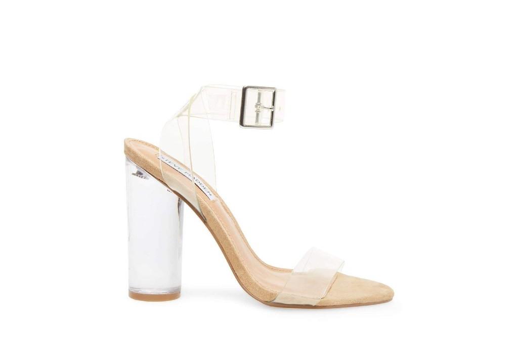 steve madden clearer clear sandals