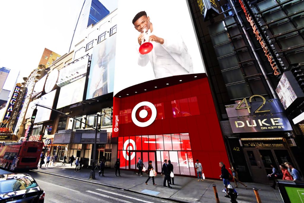 A rendering of Target's new store in New York's Times Square