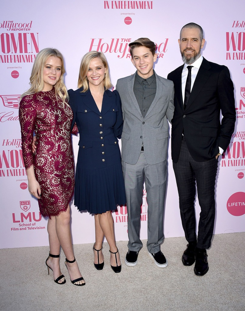 Ava Elizabeth Phillippe, Reese Witherspoon, Deacon Reese Phillippe and Jim TothThe Hollywood Reporter's 'Women in Entertainment' Gala, Arrivals, Milk Studios, Los Angeles, USA - 11 Dec 2019