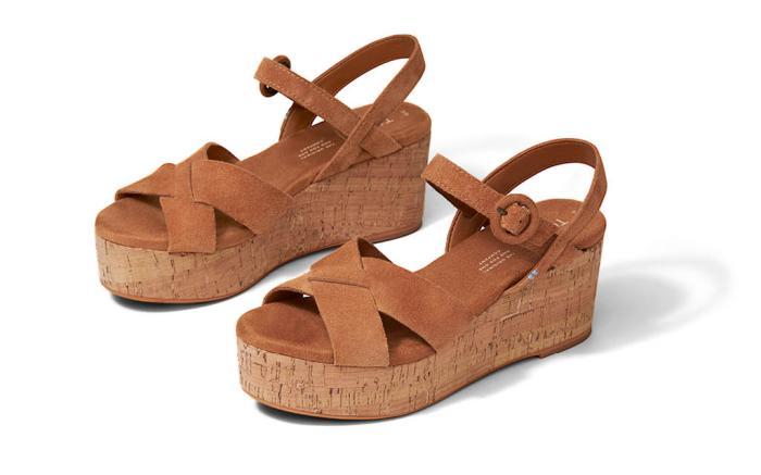 toms shoes, spring 2020, wedges, cork