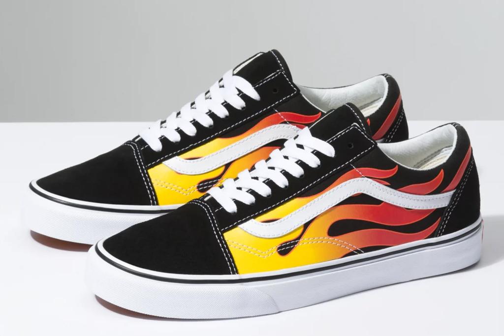 vans, flame, old skool, sneaker