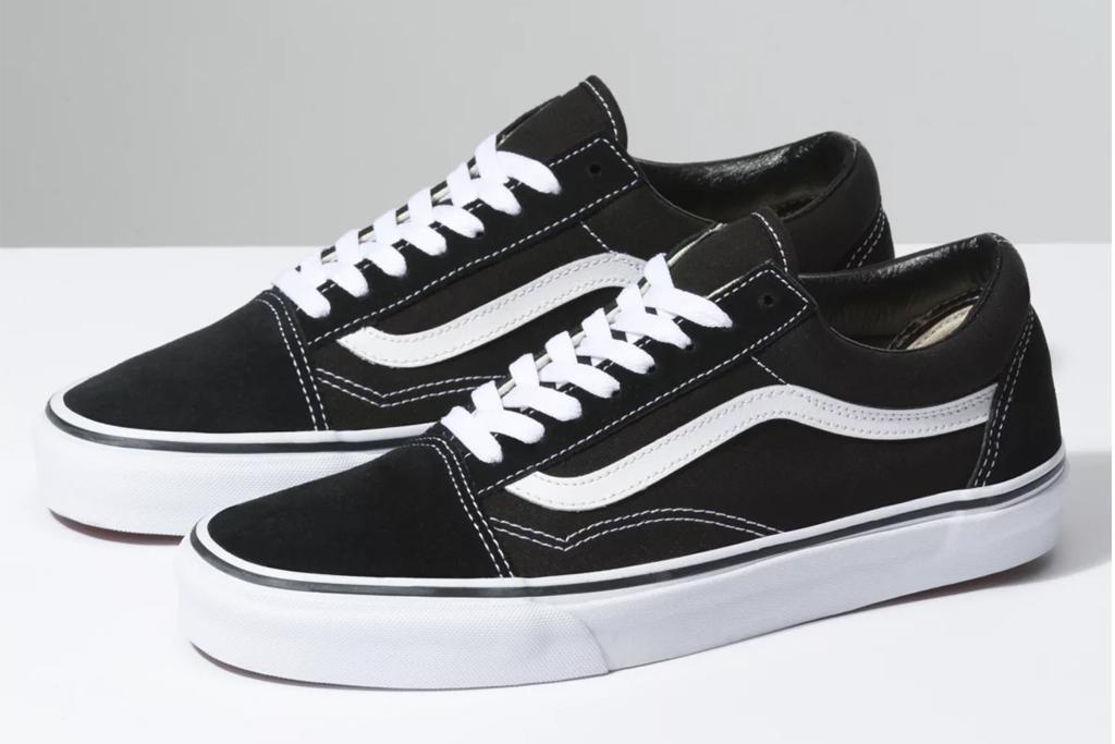 vans, old skool, black and white, sneakers