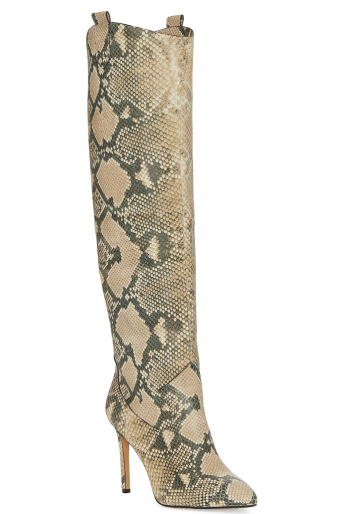 Vince Camuto Kervana, snake print boots