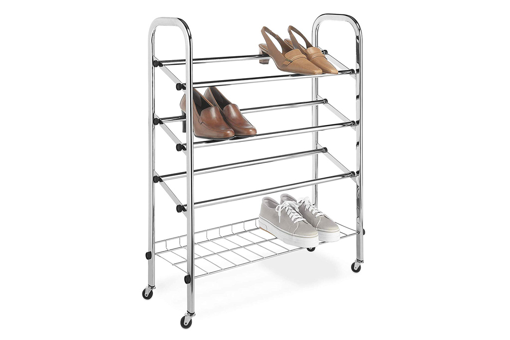 whitmor rolling shoe rack