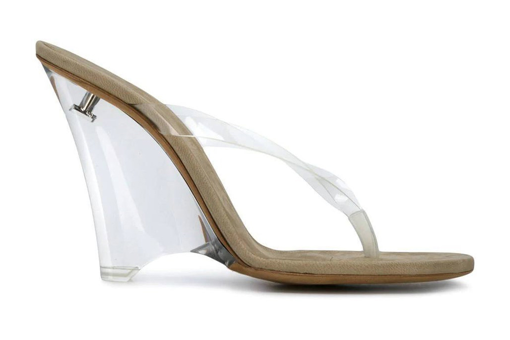 yeezy, sandal, thong, clear