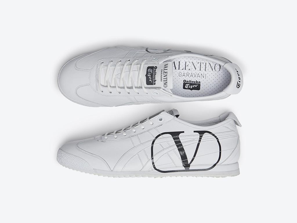 valentino, onisuka tiger, shoes, white