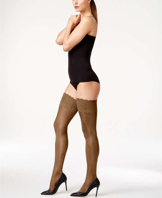 Wolford Satin Touch 20 Stay Up Thigh Highs, Sheer Thigh-High Stockings that stay up