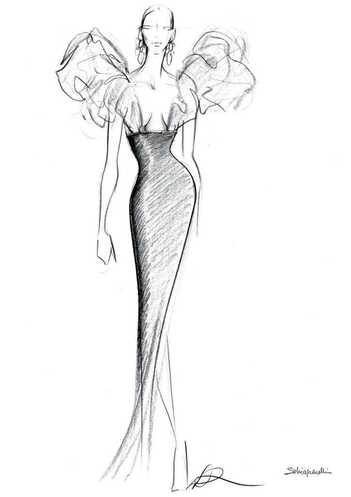 Beyoncé, Schiaparelli, golden globes, schiaparelli, gown, black and gold