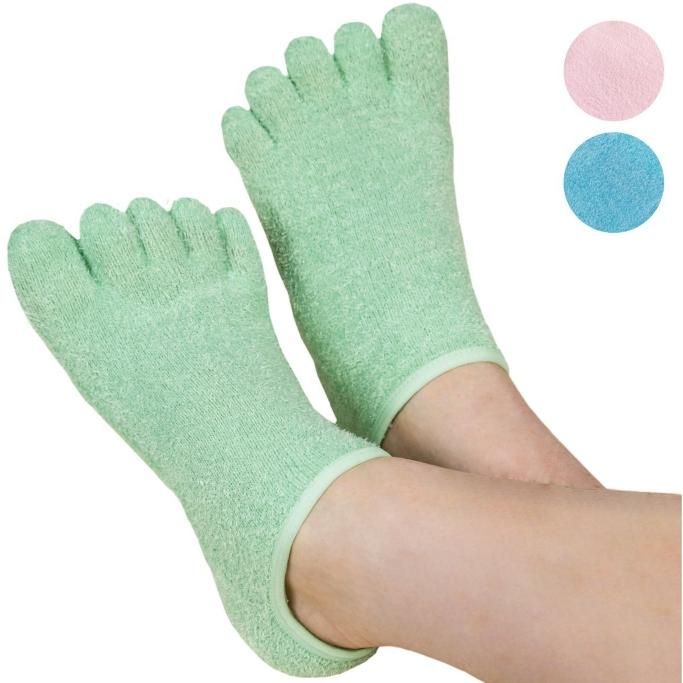 Le Emilie 5-Toe Moisturizing Gel Socks, moisturizing socks
