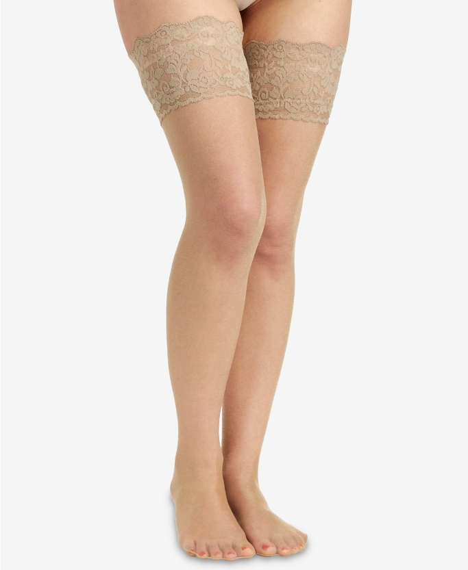 Berkshire Sheer Shimmer Thigh Highs, sheer thigh high stockings