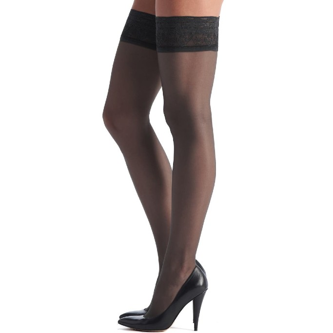 Oroblu Soirèe 15 Thigh High Stay-Up Stockings, sheer thigh high stockings that stay up
