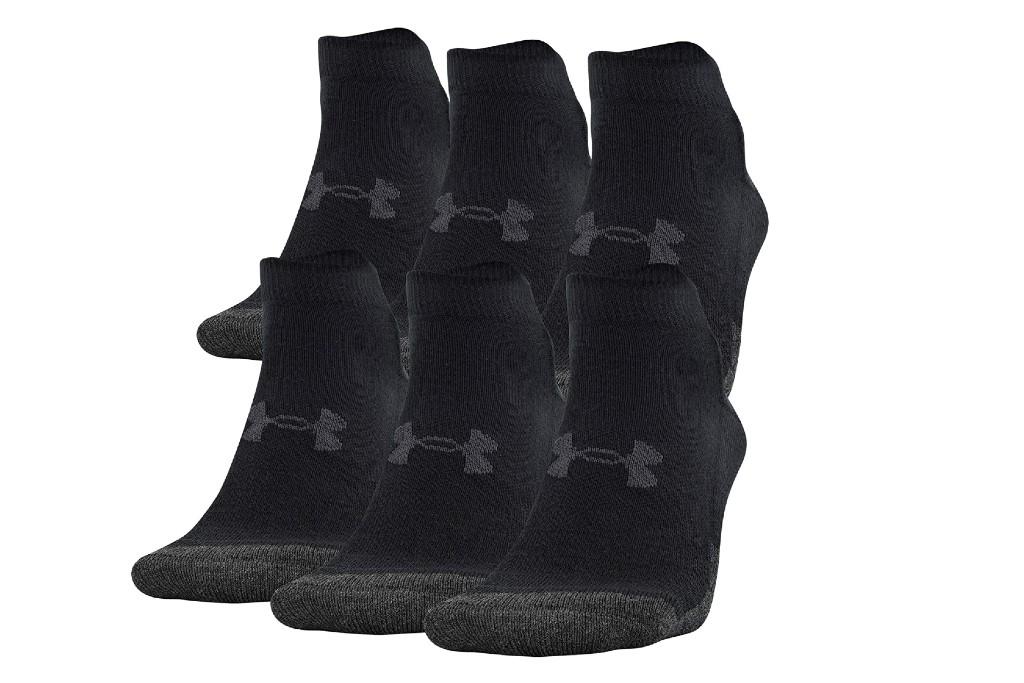 Under Armour Performance Tech Low Cut Socks, men's ankle socks