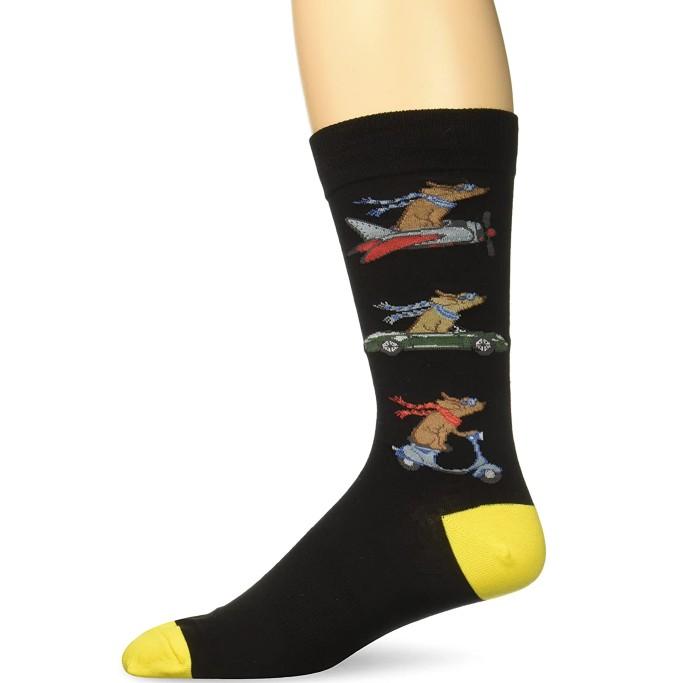 K. Bell Animal Novelty Crew Socks, animal-themed dress socks for men