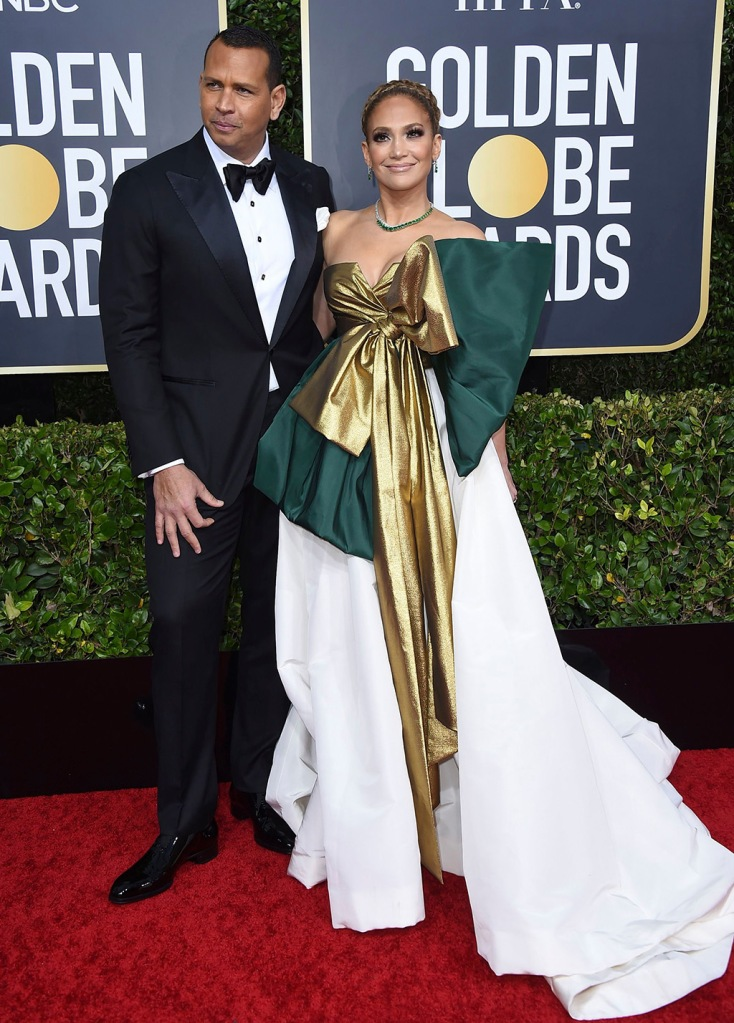 Alex Rodriguez, Jennifer Lopez. Alex Rodriguez, left, and Jennifer Lopez arrive at the 77th annual Golden Globe Awards at the Beverly Hilton Hotel, in Beverly Hills, Calif77th Annual Golden Globe Awards - Arrivals, Beverly Hills, USA - 05 Jan 2020