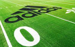 Adidas, football field, recycled plastic