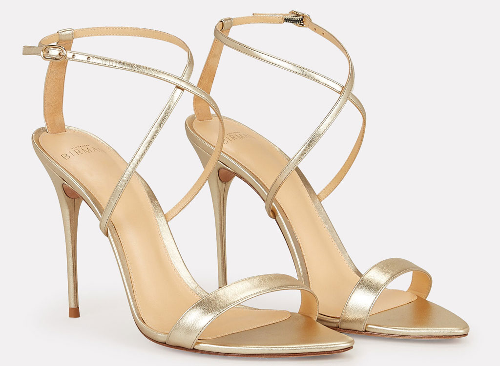 Alexandre Birman , strappy sandals, gold shoes, red carpet