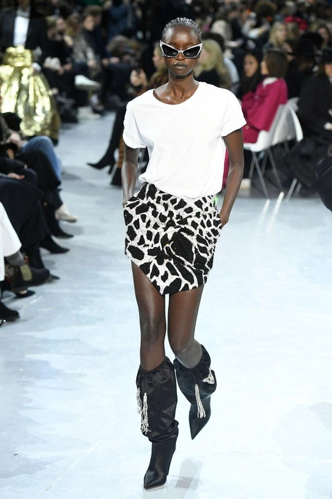 Model on the catwalkAlexandre Vauthier show, Runway, Spring Summer 2020, Haute Couture Fashion Week, Paris, France - 21 Jan 2020