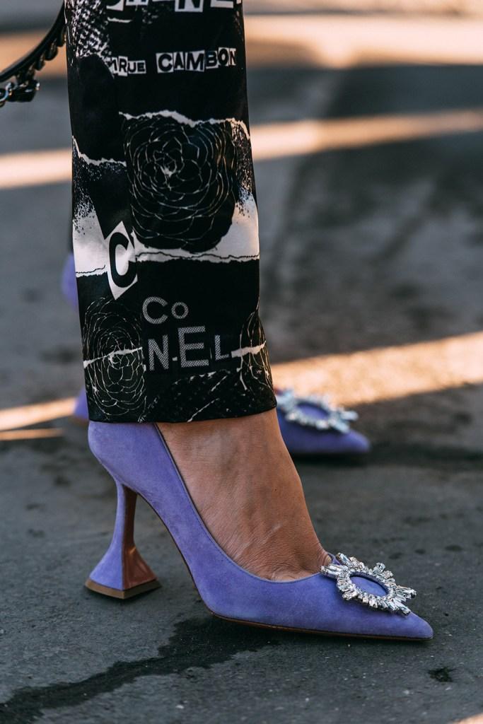 Amina Muaddi, helena bordon, street style, chanel, paris fashion week, haute couture, spring 2020