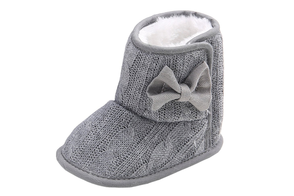 annowl knit crib shoes