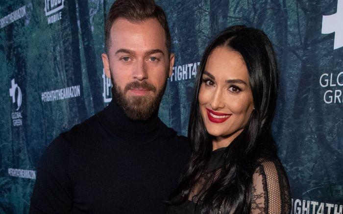 Artem Chigvintsev and Nikki BellaPUBG Mobile's #FIGHT4THEAMAZON Event, Los Angeles, USA - 09 Dec 2019