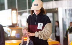 Bella Hadid arrives at JFK airport