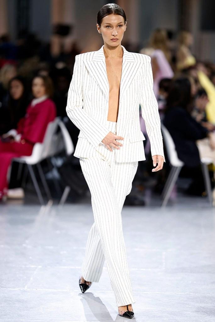 Bella Hadid , alexandre vauthier , spring 2020, couture, paris