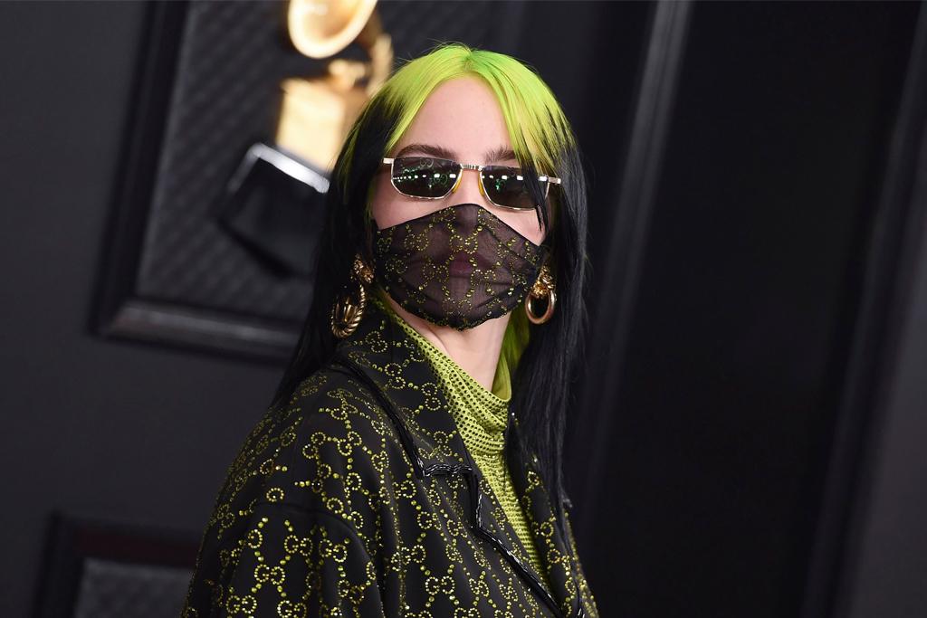 Billie Eilish Wears Green Gucci All Over at 2020 Grammy Awards – Footwear News