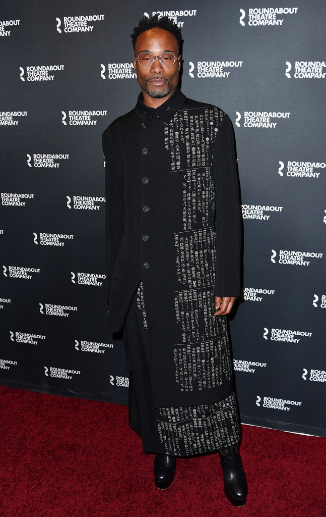 Billy Porter', black boots, coach shoes, platform shoes, A Soldier's Play' Broadway Opening, New York, USA - 21 Jan 2020