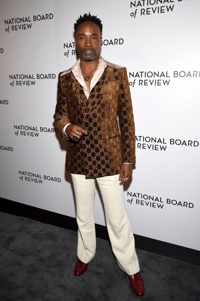 billy porter, red carpet, gucci