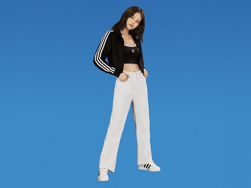 Jennie, blackpink, adidas originals, change is a team sport