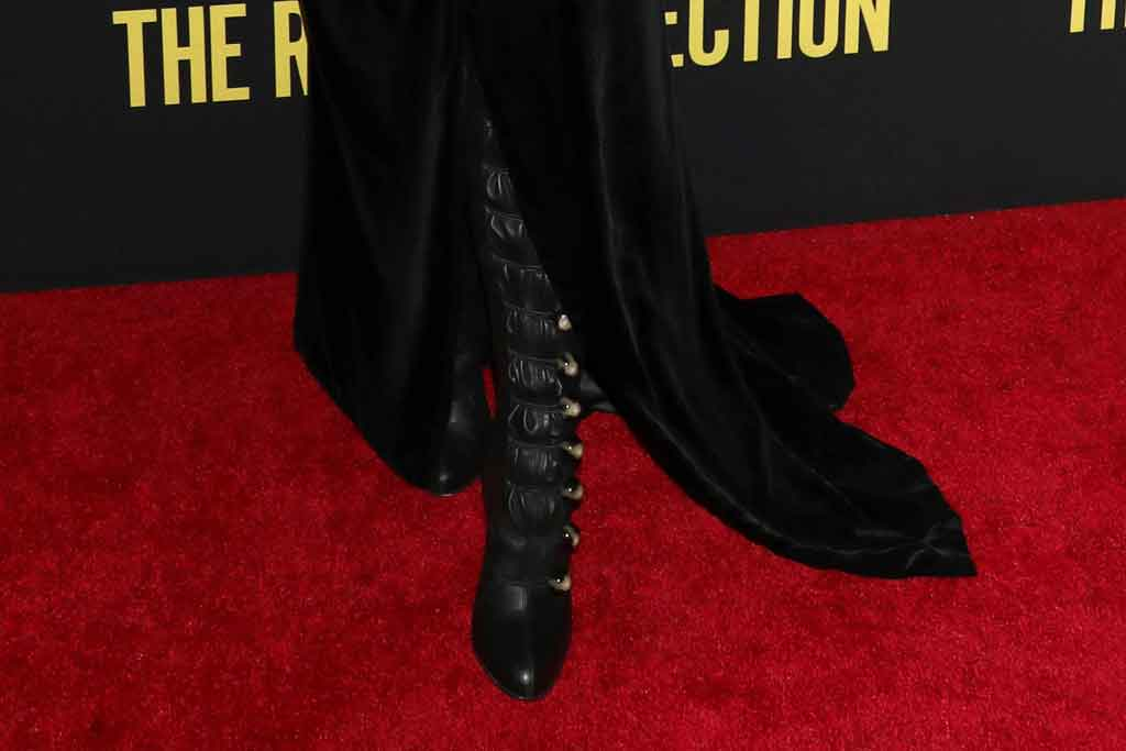 Blake Lively, christian louboutin, thigh high boots, celebrity style, red carpet, rhythm section, january 2020