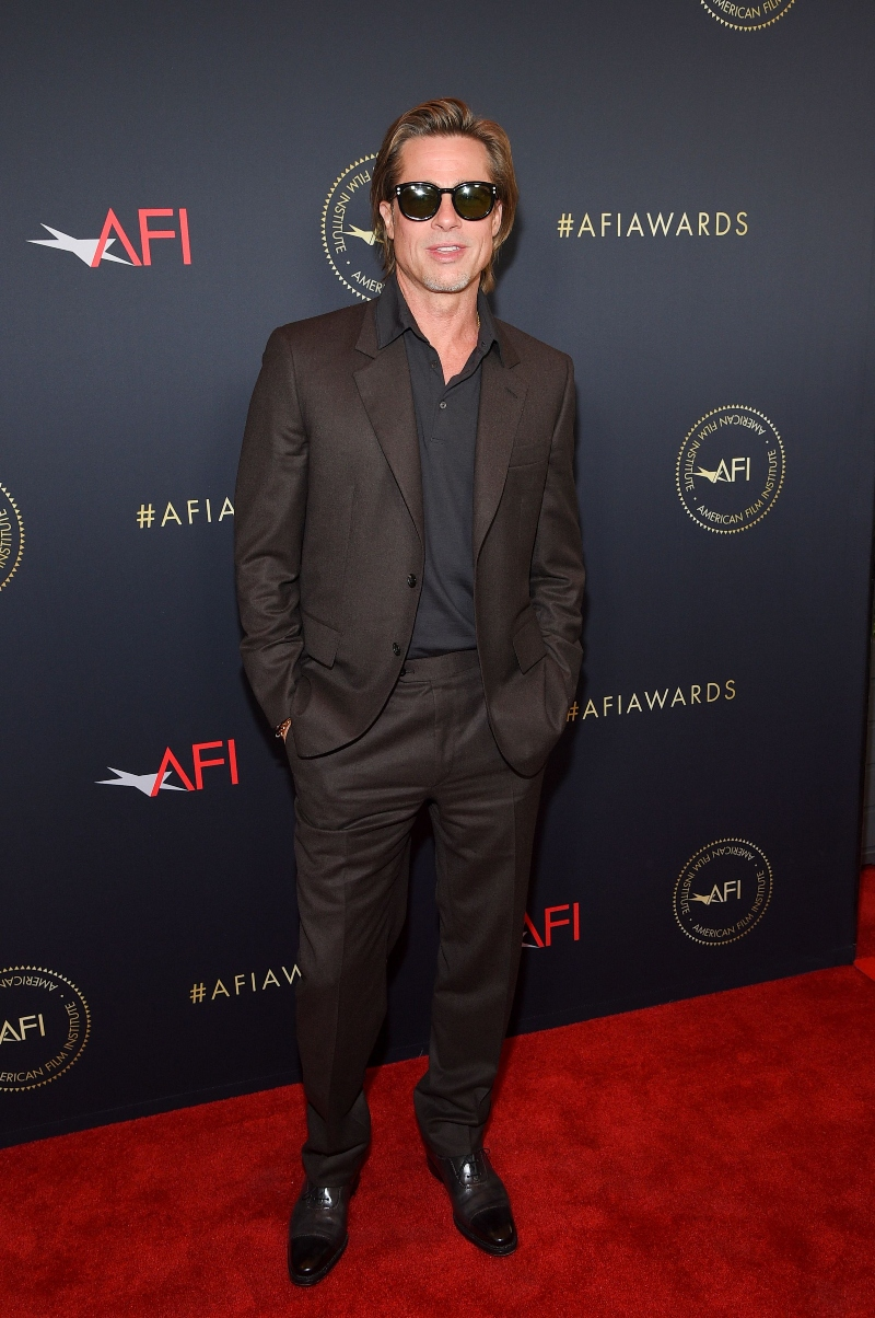 AFI Awards Luncheon, Los Angeles, brad pitt, brown suit, brown shoes