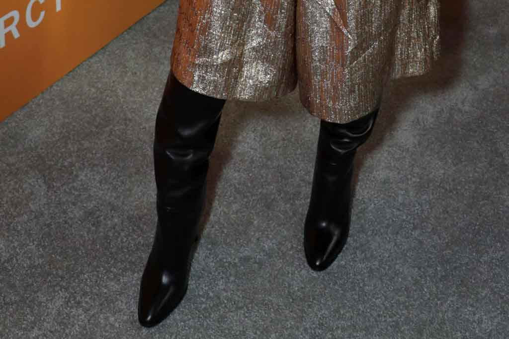Brie Larson, celine, black boots, red carpet, celebrity style, just mercy,
