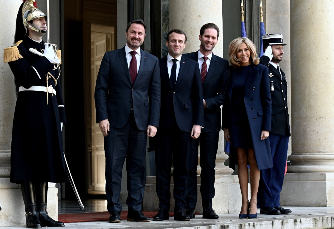 the Elysee Palace, brigitte macron, emmanuel macron, president, france, first lady, blue