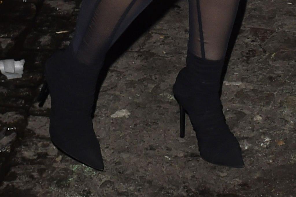 Cardi B, ankle boots, street style, stilettos, paris fashion week