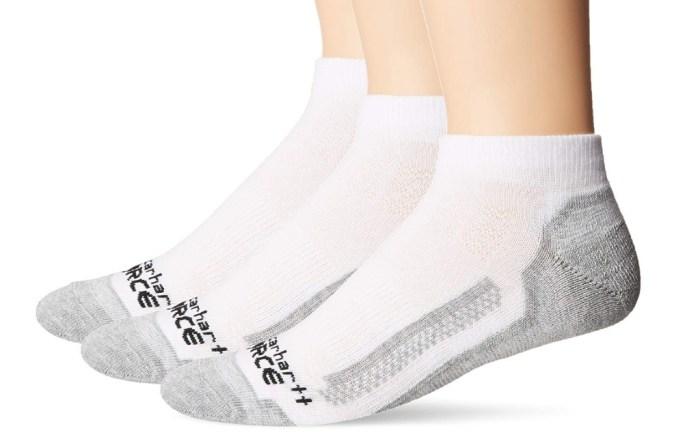 Carhartt Men's 3 Pack Low Cut Force Work Socks