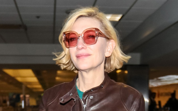 cate blanchett, lax, los angeles, airport, jumpsuit, boots, sunglasses, leather