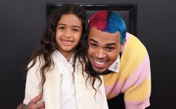 Chris Brown and Royalty Brown62nd Annual